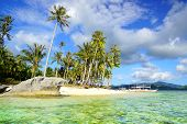 stock photo of boracay  - Picturesque sea landscape - JPG