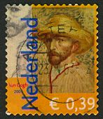 NETHERLANDS - CIRCA 2003: Postage stamp printed in Netherlands dedicated to Vincent van Gogh (1853-1