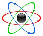 stock photo of radium  - Color atomic symbol - JPG