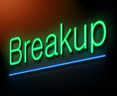 foto of breakup  - Illustration depicting an illuminated neon sign with a breakup concept - JPG