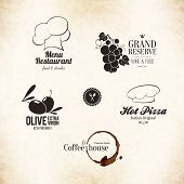 picture of monogram  - Label set for restaurant menu design - JPG