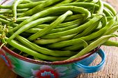 picture of kidney beans  - the fresh green beans in bowl - JPG