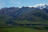 foto of denali national park  - The mountains hills and valleys of Alaska - JPG