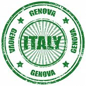 stock photo of genova  - Grunge rubber stamp with word Genova - JPG