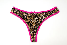 pic of knickers  - Bright coloured knickers on a white background - JPG