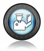 Icon Button Pictogram Immigration