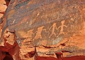 stock photo of southwest  - Petroglyphs in the Nevada Desert - JPG