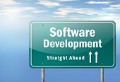 picture of open-source  - Highway Signpost with Software Development related wording - JPG