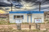 image of cisco  - Abandoned Gas Station near the Ghost Town of Cisco Utah - JPG