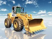 stock photo of wheel loader  - Computer generated 3D illustration with a Wheel Loader - JPG