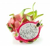 image of dragon fruit  - Fresh  Dragon Fruit  isolated  on white background - JPG