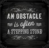 stock photo of stepping stones  - Quote Typographical Background - JPG