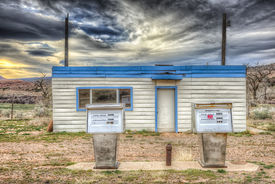 pic of cisco  - Abandoned Gas Station near the Ghost Town of Cisco Utah - JPG