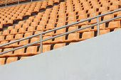 image of grandstand  - Seat of grandstand in an empty stadium - JPG
