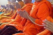 foto of religious  - Monks of the religious rituals Buddhist ceremony - JPG