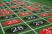 picture of roulette table  - Roulette table in a casino - JPG