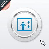 pic of elevator icon  - Elevator sign icon - JPG