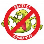 picture of virus scan  - Bacteria and virus block sign EPS10 vector - JPG