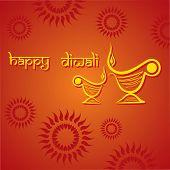 image of diya  - Illustration of diwali greeting background with diya - JPG