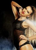 picture of striptease  - Fashion shoot of young sexy striptease dancer - JPG
