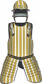 pic of armor suit  - vector gold ceremonial armor of the medieval knight - JPG