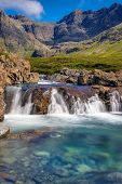 stock photo of chute  - The beautiful Fairy Pools on the Isle of Skye, Scotland