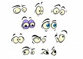 picture of sad eyes  - Set of cartoon vector eyes showing a variety of expressions and emotions - JPG