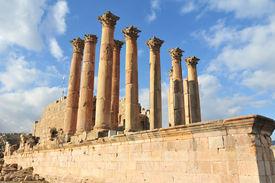 picture of artemis  - Temple of Artemis in Jerash Jordan the Gerasa of Antiquity - JPG