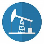 stock photo of derrick  - Oil derrick icon - JPG