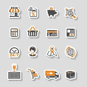 foto of internet-banking  - Internet Shopping Delivery and Cargo Sticker Icon Set for e - JPG