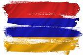 foto of armenia  - Armenia flag backdrop background texture isolated on white - JPG