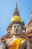 foto of budha  - Buddha statues outside the temple in Ayutthaya - JPG