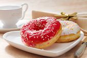 pic of confectioners  - Delicious doughnut with confectioner - JPG