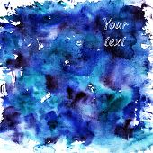 stock photo of ombre  - Abstract blue watercolor background - JPG
