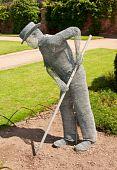 foto of chicken-wire  - Photo of a chicken wire sculpture gardening - JPG
