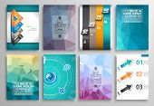 stock photo of brochure design  - Set of Flyer Design - JPG