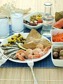 foto of ouzo  - Misc seafood and greek alcohol drink ouzo - JPG