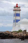 stock photo of municipal  - View of Santa Marta lighthouse and Municipal museum of Cascais - JPG