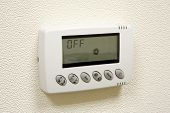 stock photo of temperature  - Digital thermostat  - JPG