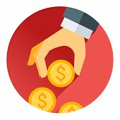 foto of holding money  - hand holding money coin - JPG