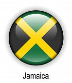 picture of jamaican flag  - jamaica official state button ball flag  - JPG