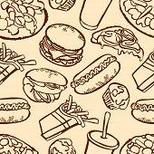 pic of hamburger  - Fast food - JPG