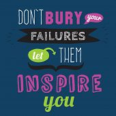 Inspirational and motivational quotes vector poster design. poster