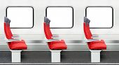 picture of passenger train  - chairs in a modern train - JPG