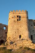 stock photo of ceres  - Ancient castle in ruins located in the north of C - JPG