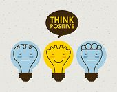 stock photo of positive thought  - think positive graphic design  - JPG