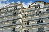 image of scaffold  - repair home scaffolding building construction - JPG