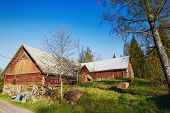pic of farm-house  - old 16th century farm house in old culture surroundings - JPG