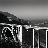 picture of bixby  - Famous Bixby Bridge out of Big Sur - JPG