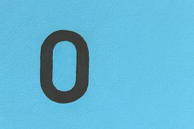 pic of zero  - zero font on the wall for background used - JPG